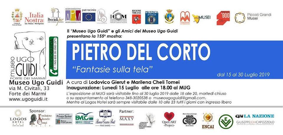 Invito mostra di Pietro Del Corto - 2019