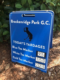 Custom logo golf course range board