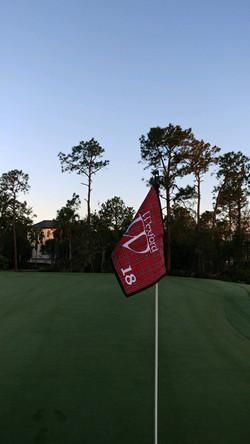 Custom golf course flag and flagpole