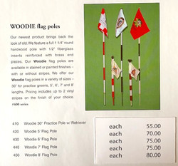 Handcrafted Woodie Pole and flags