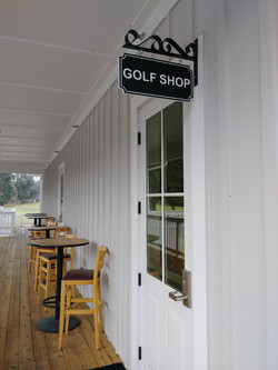 Golf course custom store sign