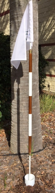 Master Of The Links Woody Poles Wooden Golf Flagsticsk
