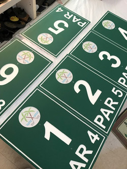 Range Board for golf course