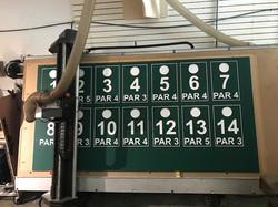 Range signs with custom logo