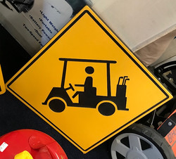 Caution Golf Cart Crossing Signs
