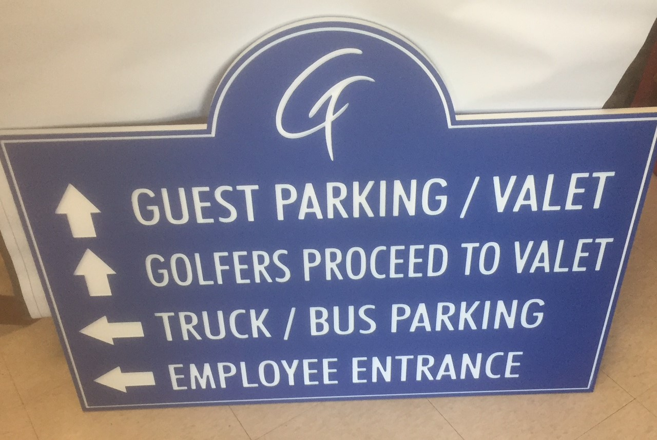 Custom Golf Course Sign