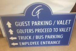 Custom Golf Course Sign