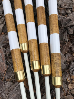 Handcrafted Woodie Pole with stripes