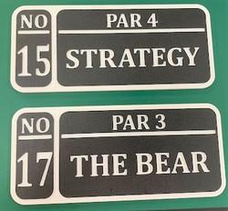 Golf course custom tee sign
