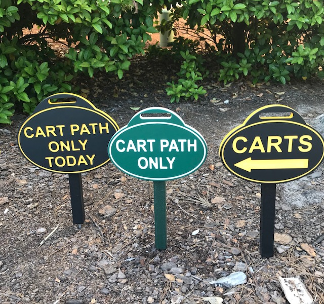 Cart Path Only Sign