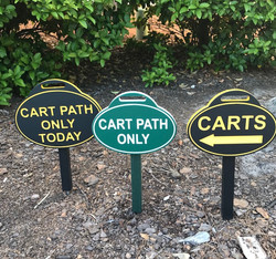 Golf Directional Signs Carts