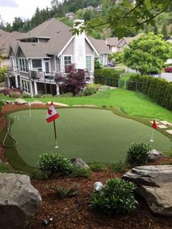 Custom backyard golf course flag