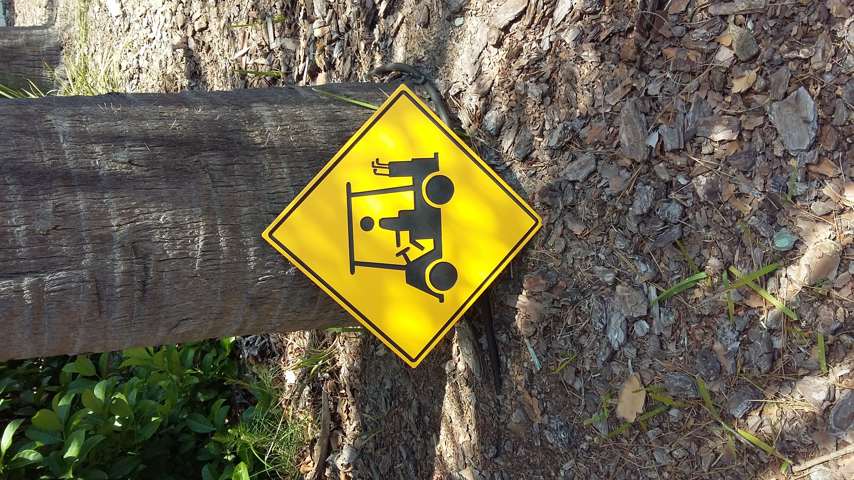 Caution Golf Carts Signs