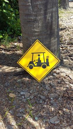 Caution Golf Carts Signs