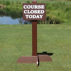 Course Closed Golf Signs