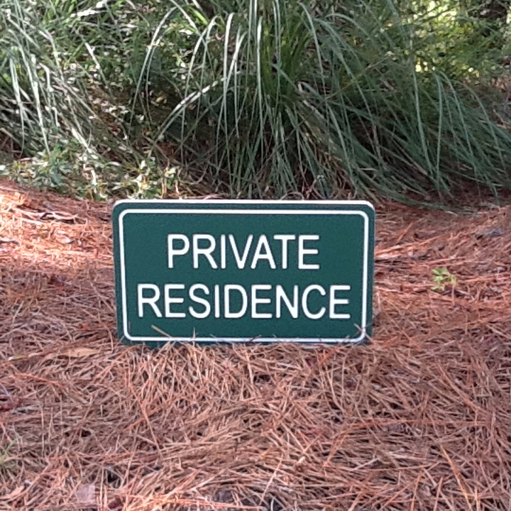 Golf Boundary Signs Private / OB