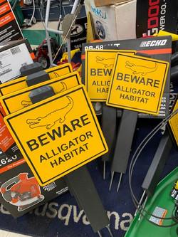 Golf course custom wildlife sign