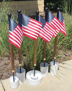 Custom golf course flags and poles