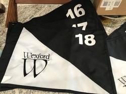 Custom golf course flags