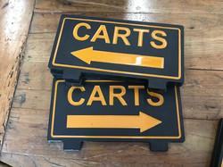 Golf course custom carts sign