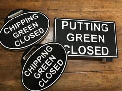 Golf course custom signs