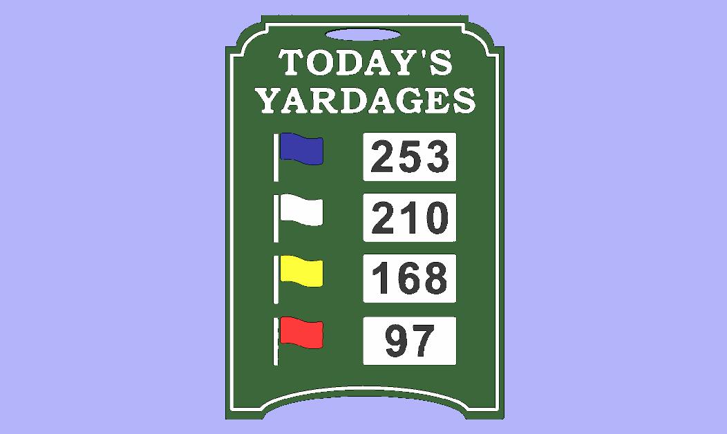Practice Range Distance A-Frame Sign