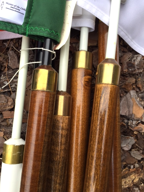 Wooden flag poles