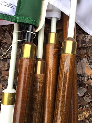 Master of the Links Wooden Flag Poles - Woody Poles