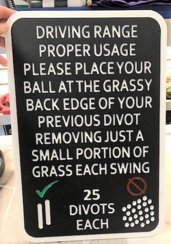 Golf course custom sign