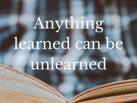 Anything learned can be unlearned