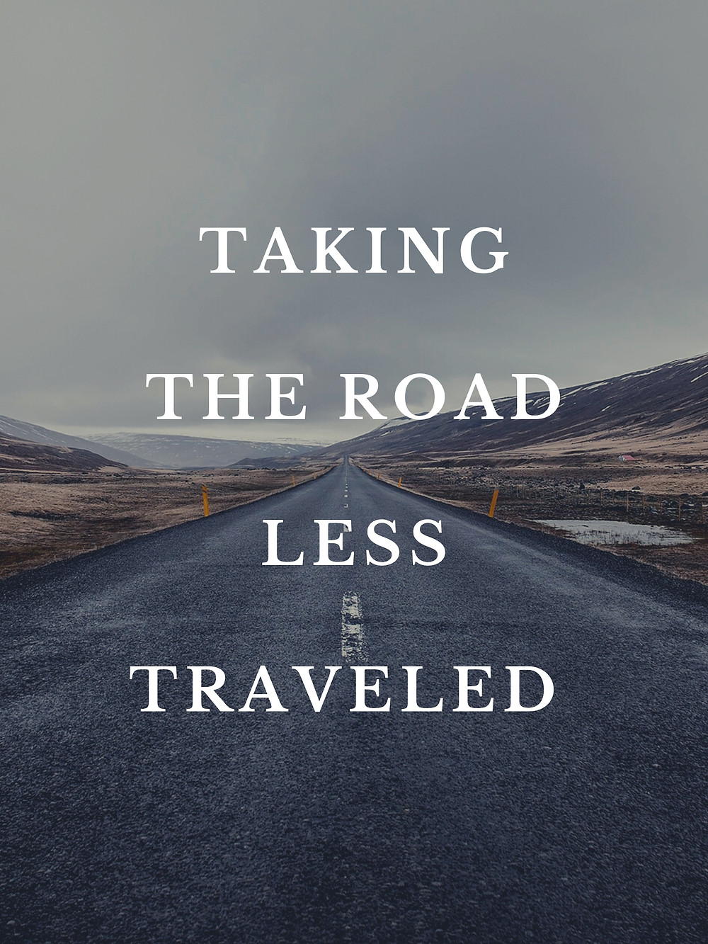 Taking the road less traveled