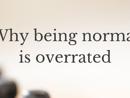 Why being normal is overrated
