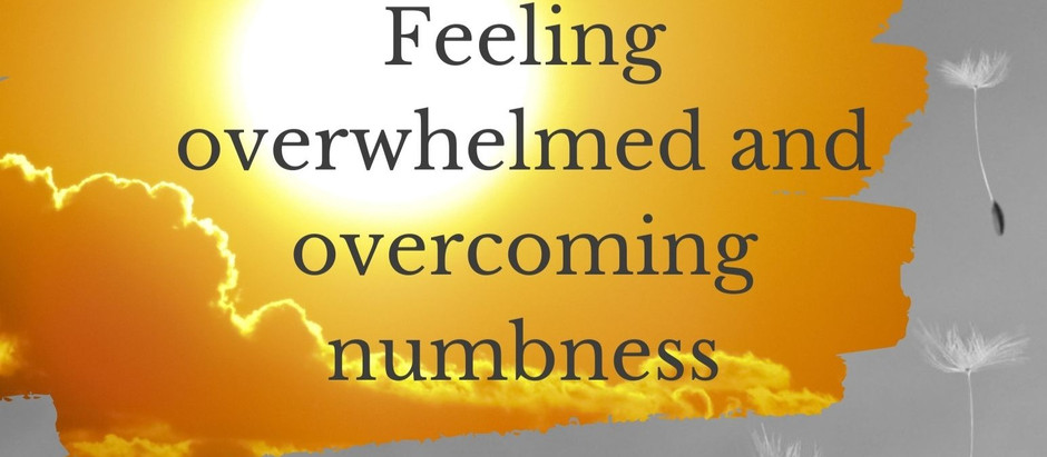 Feeling overwhelmed and overcoming numbness