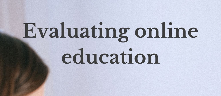 Evaluating online education