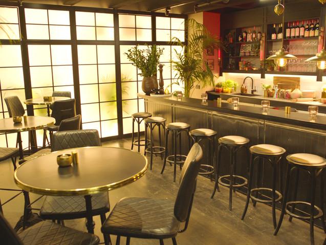 עיצוב מסעדת שף בסגנון בראסרי סטייל אירופאי- חברת ביו-טק (ייצור בשר מתורבת) המסעדה הראשונה בעולם שמגישה בשר מתורבת- ביוטק ישראלי.