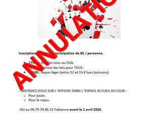 ANNULATION      03/04/2020 - SOIREE CARTES - BELOTE -
