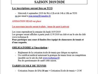 Permanences Inscription TCO