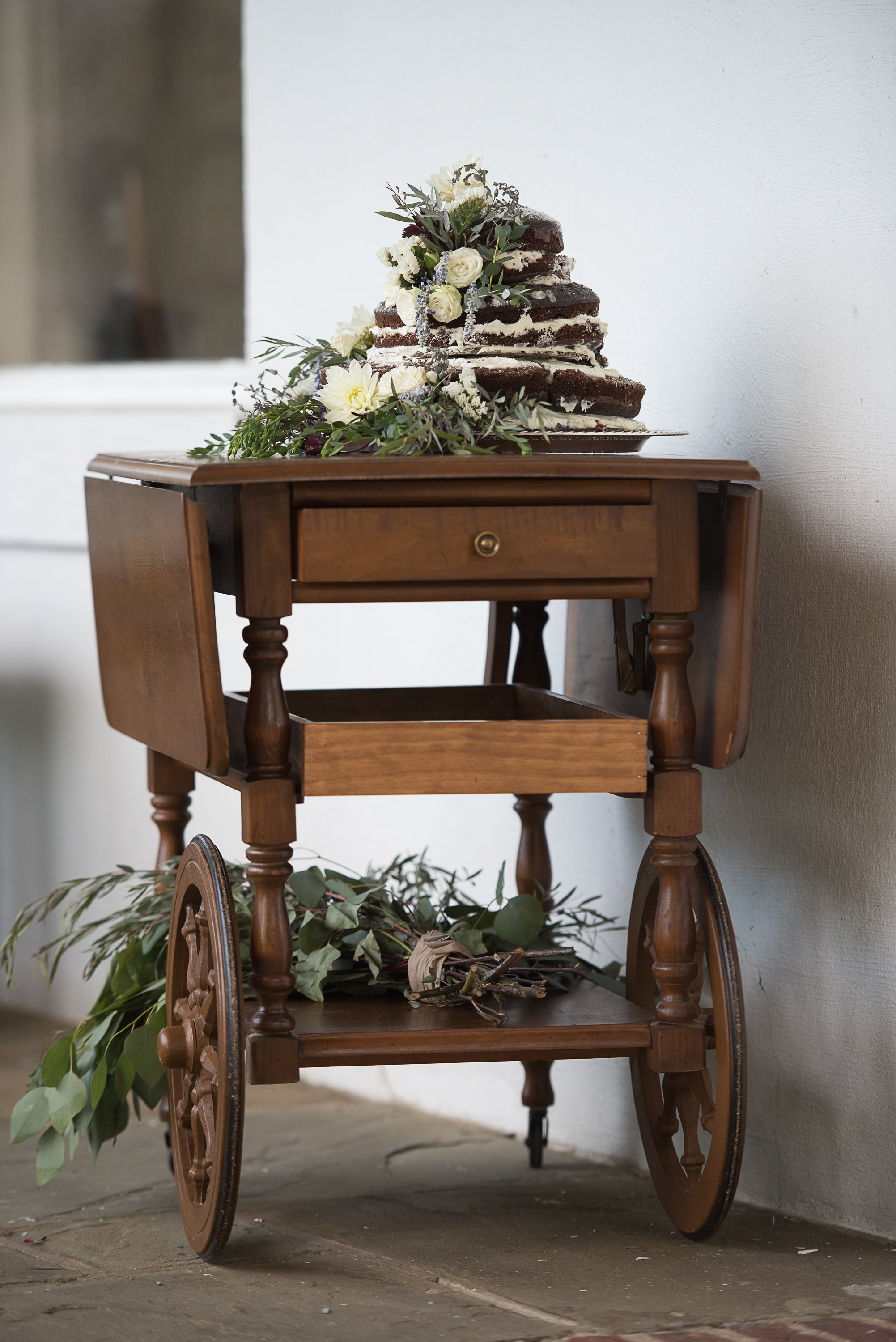 Tea Cart Cake Table