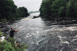 "A guest fishing the ""Ghillie's Pool"" beat 1 on the river Snizort"