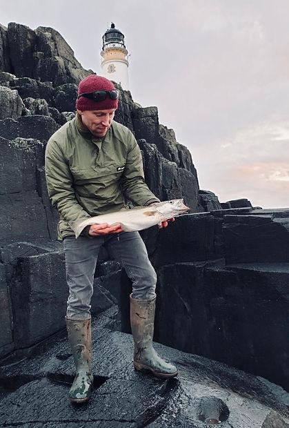 Fishing at Neist Point Isle of Skye