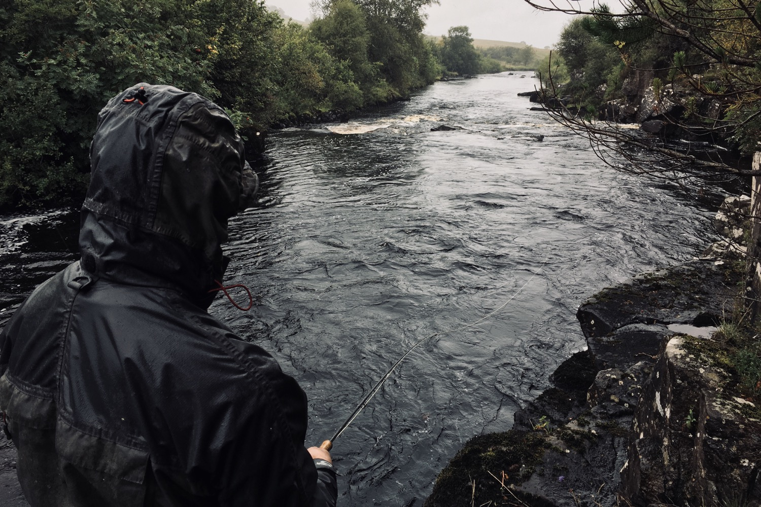 A rainy day on the river