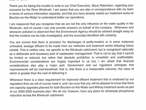 Thames Water CEO replies to our letter