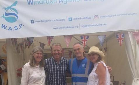WASP getting the chance to thank Adam Henson for his help. We will be at the show all weekend down by the lake at Tom Heap Hollow. Come over for a chat.