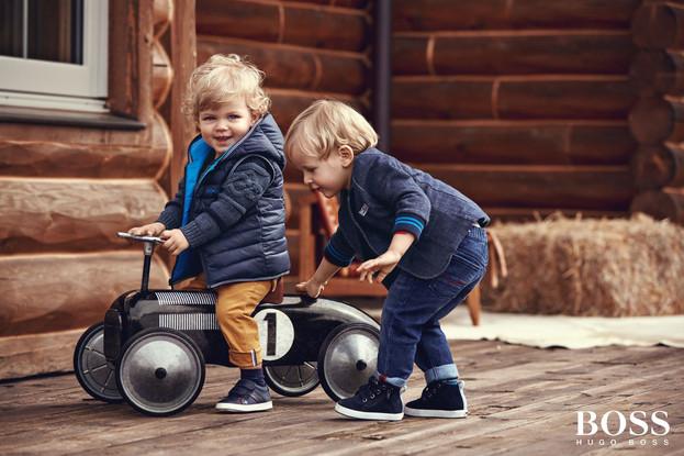 Hugo Boss Kids Kampgane   18,27 DM Markt  Hugo Boss Kids Kampagne