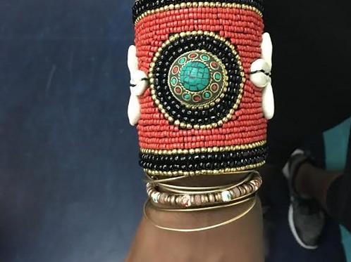Afro Centric Beaded Bracelet