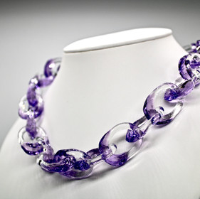 Glass chain necklace