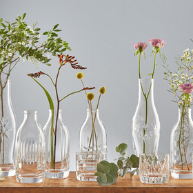Cut crystal bottles and vases