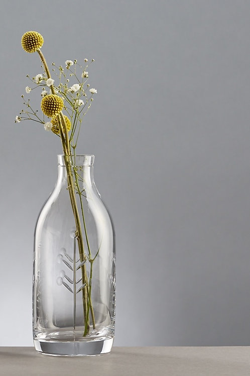 Berry Cut Crystal Milk bottle