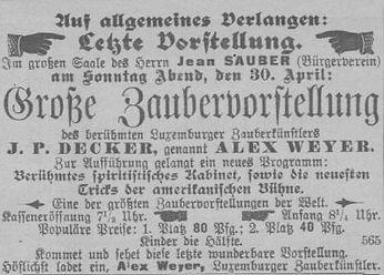 Source: Obermosel-Zeitung, 28 April 1899