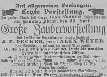 Source: Obermosel-Zeitung, 28 April 1899